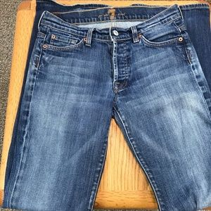 7 For All Mankind Boy Cut Jeans - Size 27